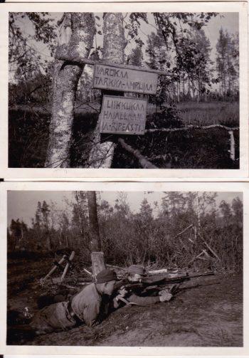 Yrjö Norrena sotakuvia Kannakselta JP 5