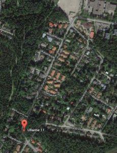 Ullantie satelliittikuva 2014