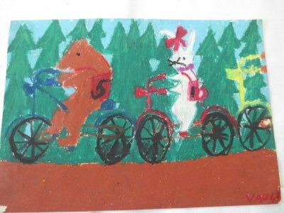 Vaula Norrena piirustus pyöräkilpailu