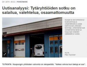 VS juttu Vantaan tytäryhtiöiden sotku 29.1.2015