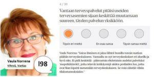Vaula Norrena vaalikoneessa 2017 terveyspalveluista