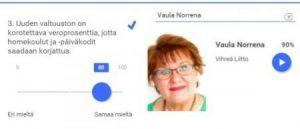Vaula Norrena vaalikoneessa 2017 veron korotus