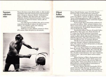 Mauno Koivisto vaaliesite 1988Suomen näköinen mies copywriter Vaula Norrena