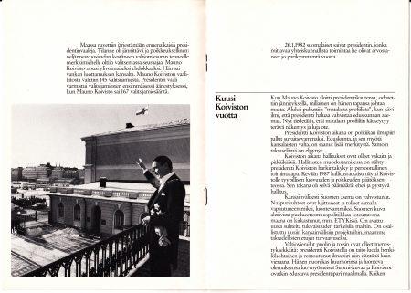 Mauno koivisto vaaliesite 1988 sisäsivut 2 copywriter Vaula Norrena