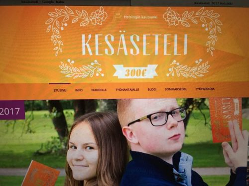 Kesätyöseteli nettisivut Helsinki