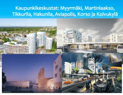 Vantaa kaupunkikeskustat esite 2018