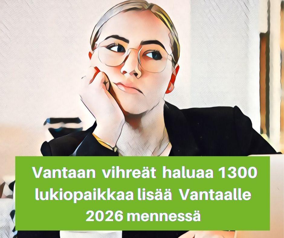 Vantaa tarvitsee 1300 lukiopaikkaa lisää 2026 mennessä